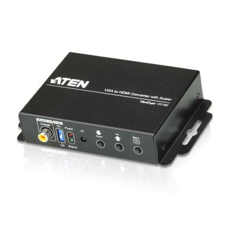 Aten Vc182 At G aten vc182 convertidor vga a hdmi con escalador de
