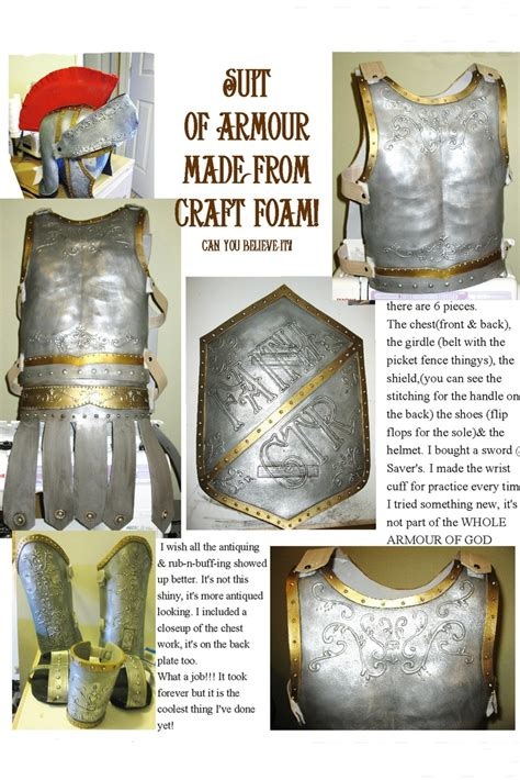 suit of armor from foam