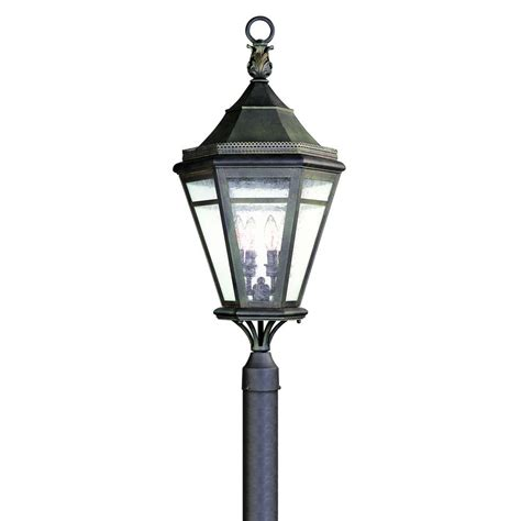Troy Lighting Outdoor Troy Lighting Hill 4 Light Outdoor Rust Post Light P1275nr The Home Depot