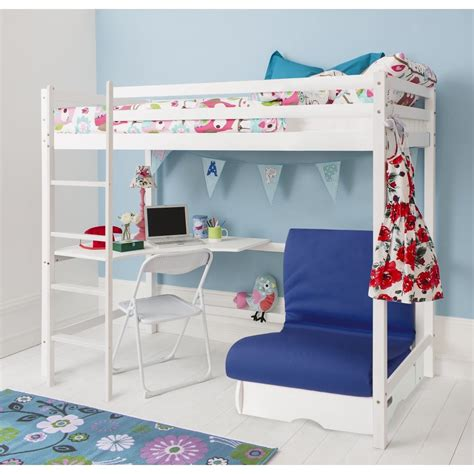 pull out bunk bed couch futon pull out guest bed in blue noa nani