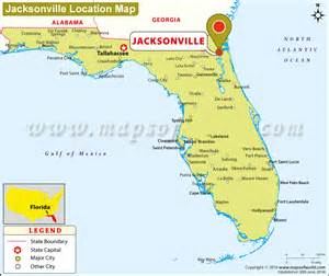 where is florida located on the map where is jacksonville located in florida usa