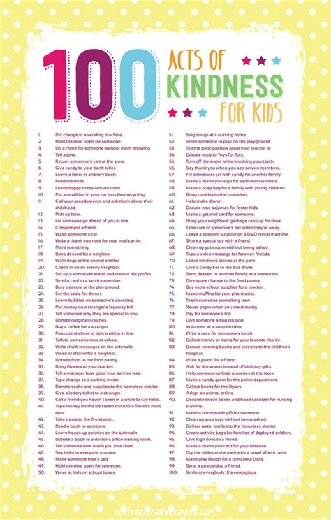 themes in the book of acts 100 acts of kindness for kids free printable big and