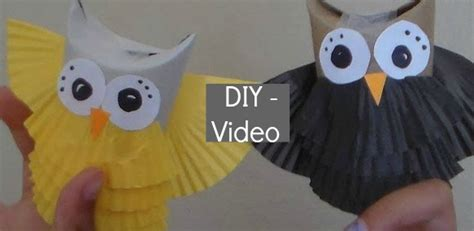 Owl Craft Toilet Paper Roll - diy toilet paper roll owls for