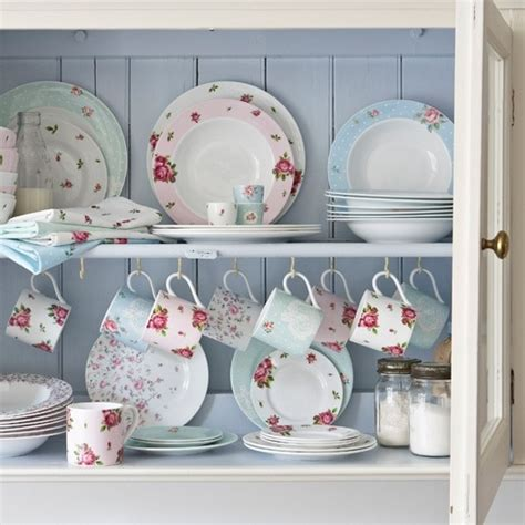 Shabby Chic China Cabinet Dishes Dining In Style Shabby Chic China