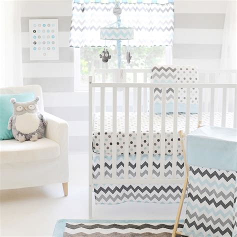 chevron baby boy bedding my baby sam chevron baby 3 piece crib bedding set in aqua