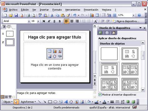 tutorial powerpoint 2003 para niños curso de microsoft powerpoint 2003 gratis dise 241 o de