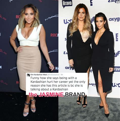 khloe amp kim kardashian bash adrienne bailon for talking