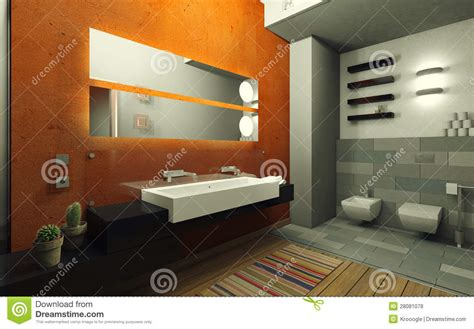 orange and grey bathroom orange bathroom royalty free stock photos image 28081078