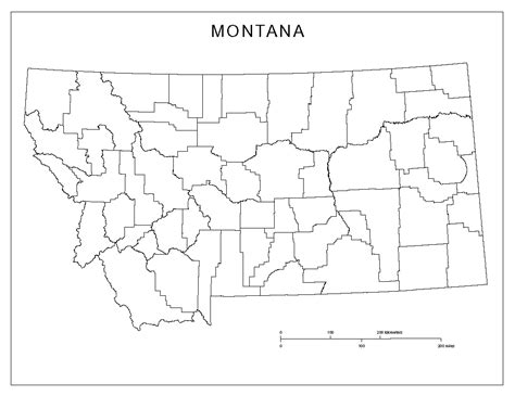 Montana Map Outline by Montana Blank Map