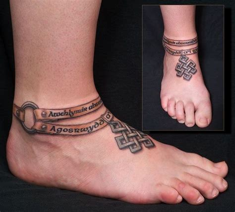 ankle band tattoos for men ankle tattoos for design ideas images and meaning