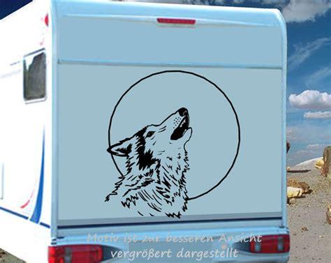 Aufkleber Heulender Wolf by Heulender Wolf Aufkleber Wohnmobil Oder Wohnwagen Ebay