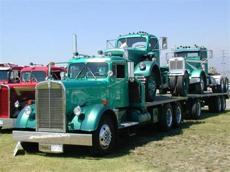 old kw trucks 1955 vintage kenworth truck trucks pinterest