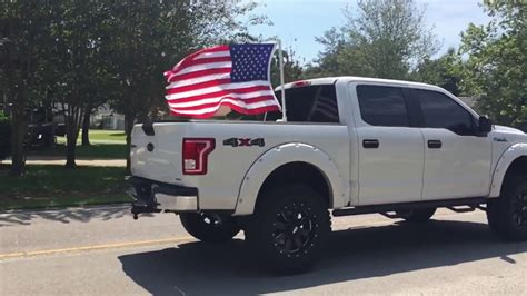 truck bed flag 25 pvc flag stand youtube