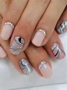 silver swirl nails nail art pinterest