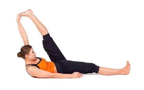 Reclining Big Toe Pose by End Pms 5 Poses To Start Doing The Minute You Start