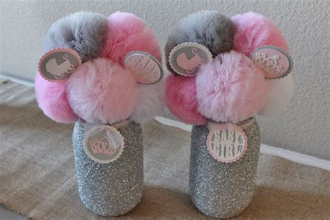 Pink And Gray Baby Shower Ideas by Items Similar To Pink Gray Baby Shower Decorations Baby