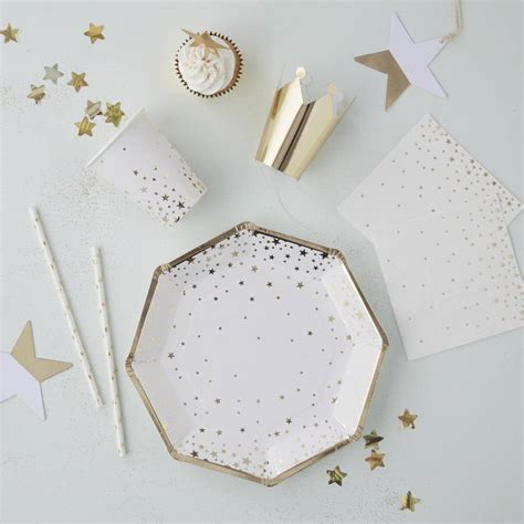 glitter placecard holders gold star bauble place card holders by ginger ray