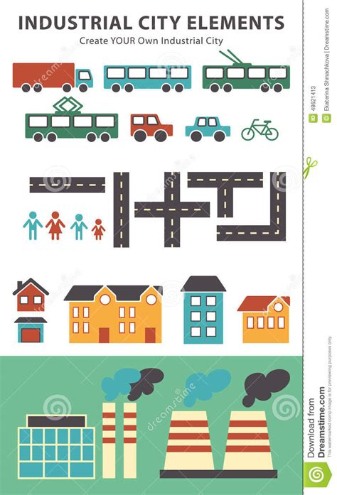 create your own map town infographic elements vector city elements for create