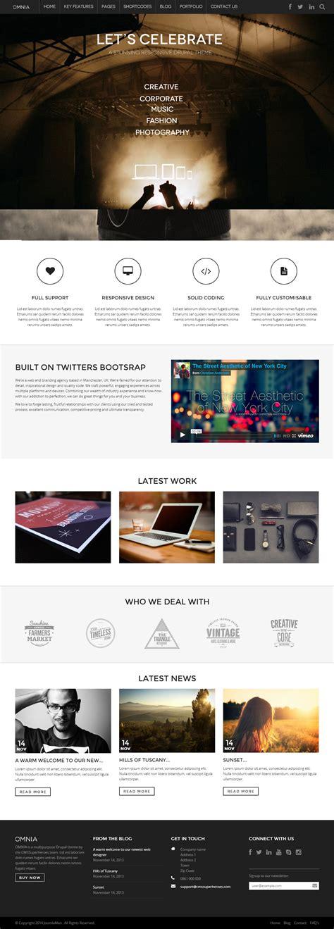 drupal theme evolve 25 best responsive parallax scrolling drupal themes 2014