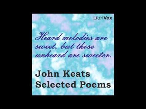 witness the selected poems 1935210319 john keats selected poems by john keats full audiobook youtube