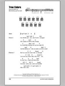 you should seen it in color lyrics true colors by cyndi lauper guitar chords lyrics