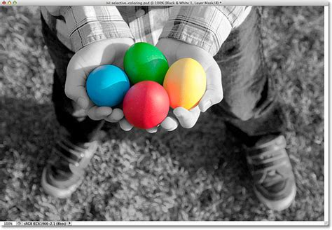 how to select a color in photoshop selective coloring effect in photoshop