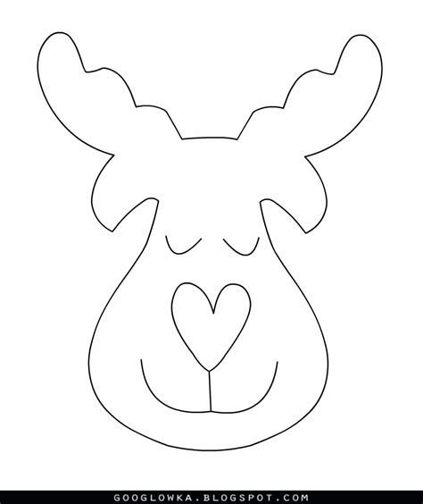 Best photos of face felt reindeer template free reindeer patterns