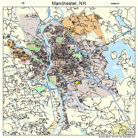 manchester new hshire map manchester new hshire map 3345140