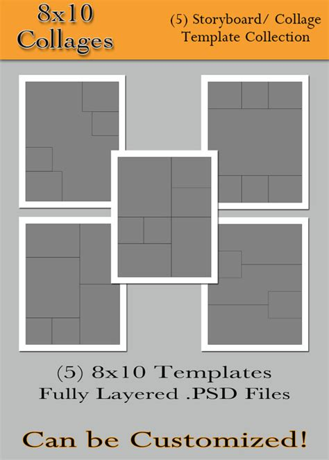 8x10 photo collage template items similar to 8x10 collages 5 custom photo