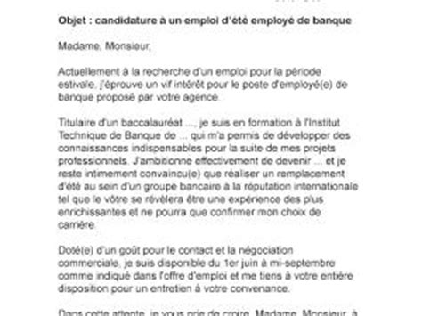 Lettre De Motivation Banque ã Tudiant Lettre De Motivation D 233 T 233 Banque Par Lettreutile
