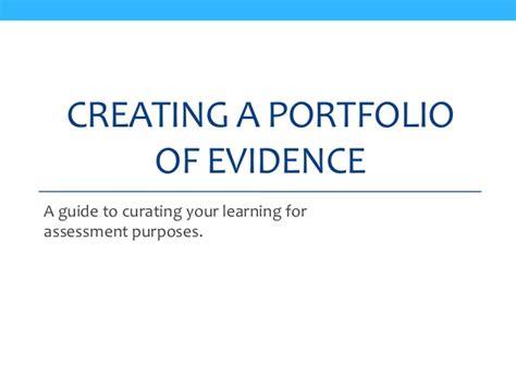 layout of a portfolio of evidence portfolios of evidence