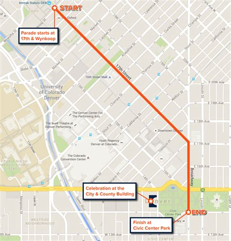 route of new year parade 2016 bowl parade 2016 map and route for denver broncos