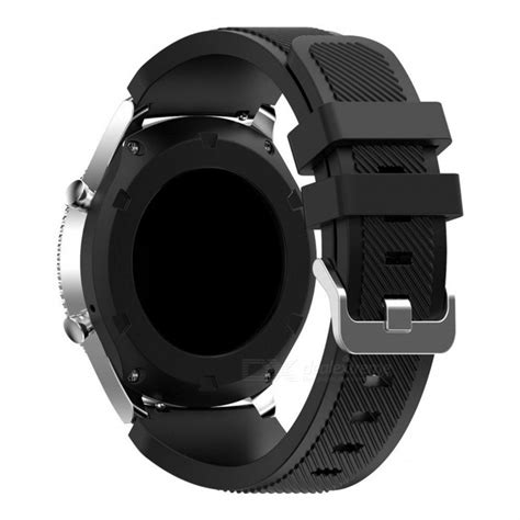 New Arrival Samsung Gear S3 Active Silicon Black Original Prom replacement soft silicone watchbands for samsung gear s3