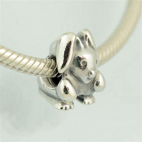 genuine pandora silver bunny rabbit charm 790389