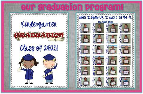 kindergarten graduation program template kindergarten graduation