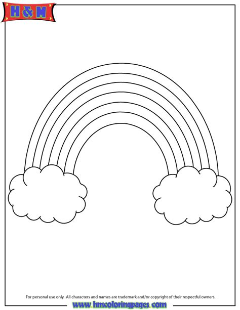 rainbow template printable rainbow template cutout coloring page h m coloring pages