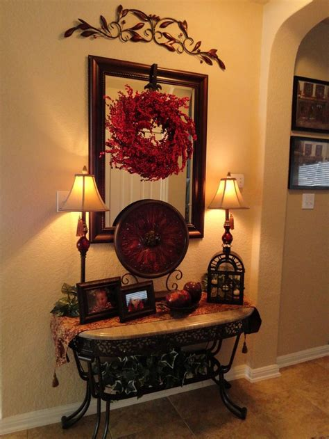 entry decor foyer table tuscan style decorating entry foyer