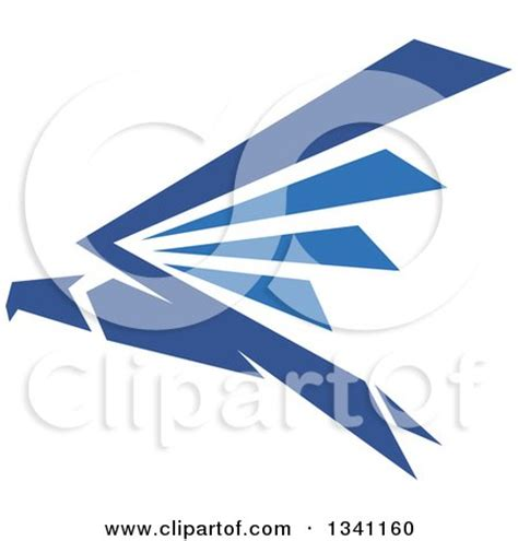 Flying Eagle Fast Blade Black Blue royalty free majestic illustrations by seamartini graphics