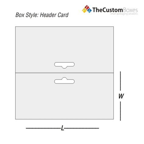 card packaging template header card custom header card packaging solution