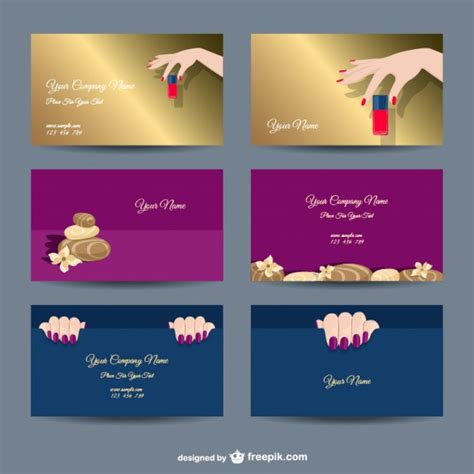 manicurist business card template manicure company card templates vector free
