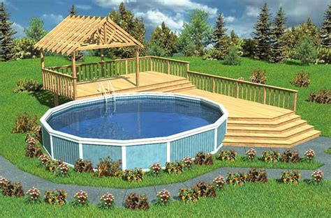 Deck Design Ideas For Above Ground Pools by Above Ground Pool Deck Design Ideas Pool Design Ideas