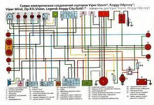 схема проводки китайского скутера