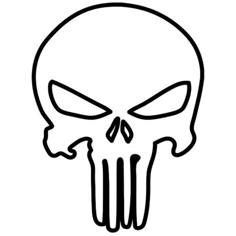 punisher template punisher skull outline iphone helmet bike harley by