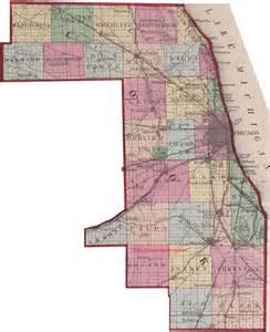 des plaines illinois map vintage 1870 township map of cook county illinois