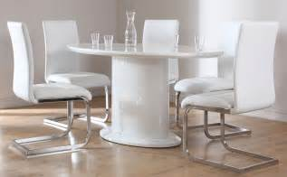 Dining Table With White Chairs Monaco Perth White High Gloss Oval Dining Table 4 6 Leather Chairs Set White Ebay