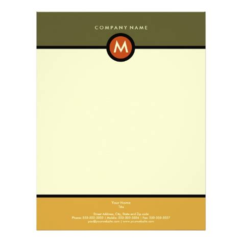 modern business letterhead modern monogram business letterhead zazzle
