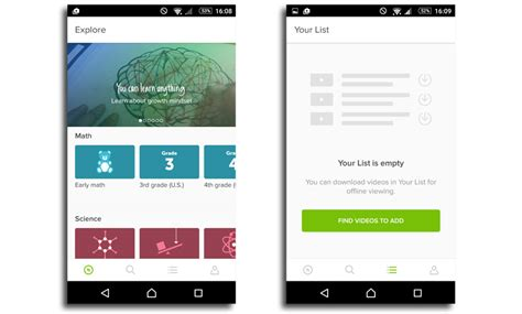 khan academy app for android llega la app android de khan academy