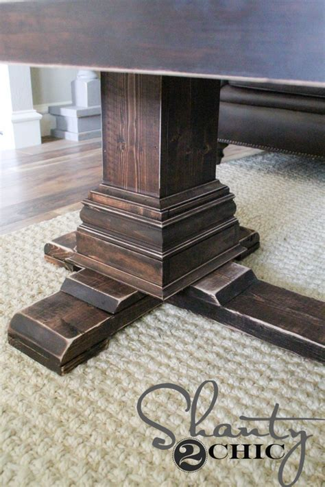 diy pedestal table diy pedestal coffee table shanty 2 chic