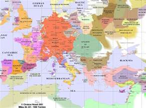 Map Of Medieval Europe by Maps Of Medieval Europe 1200 More