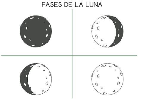 fases de la luna para ninos fases principales de la luna para colorear recortar y